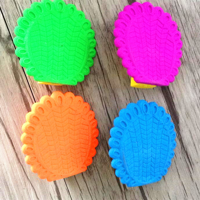 Assorted Peacock Design Erasers