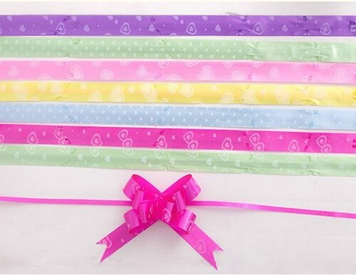 Pull Flower Ribbon For Gift Wrap – 10 Pcs