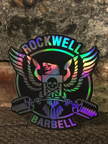Rockwell reflective sticker. Weather resistant.