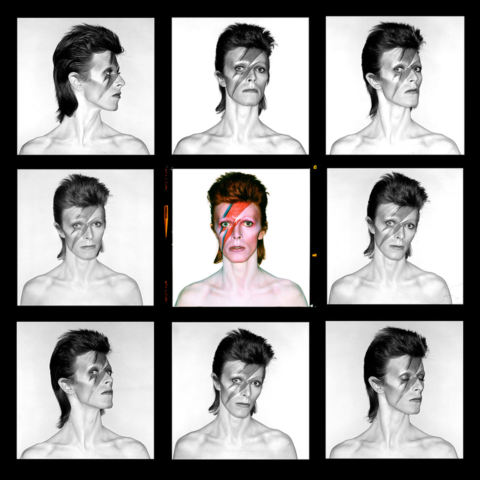 Bowie, Eyes open contact sheet