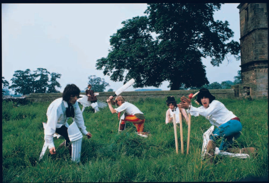 Stones playing cricket