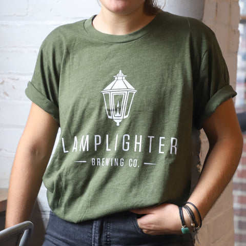 New Classic Lamplighter Tee in Hunter Green