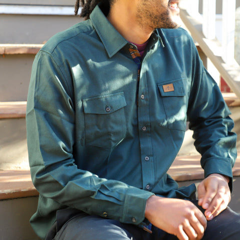 Hunter Green Flannel
