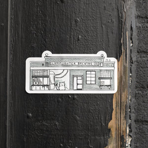 Lamplighter Illustration Bumper Sticker
