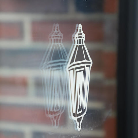 Lamplighter Window Decal