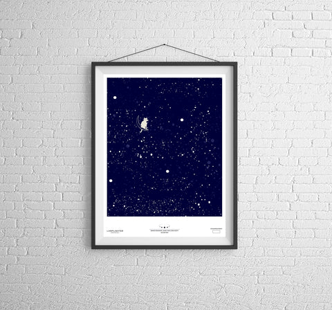 Major Tom Can Art Poster