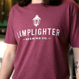 Classic Lamplighter Tee in Maroon