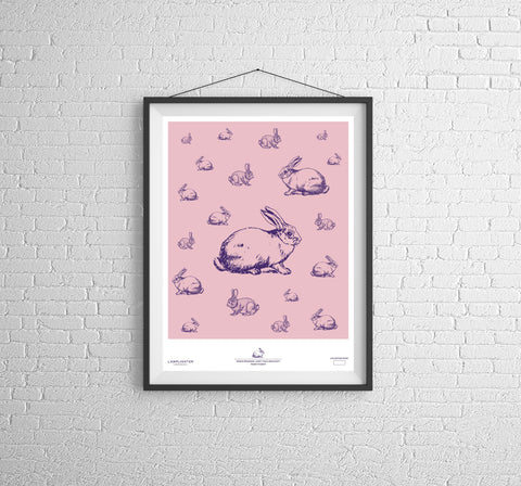 Rabbit Rabbit Can Art Poster
