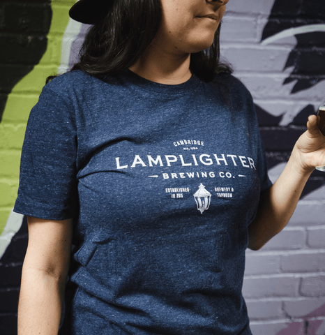 Classic Lamplighter Tee in Navy Blue