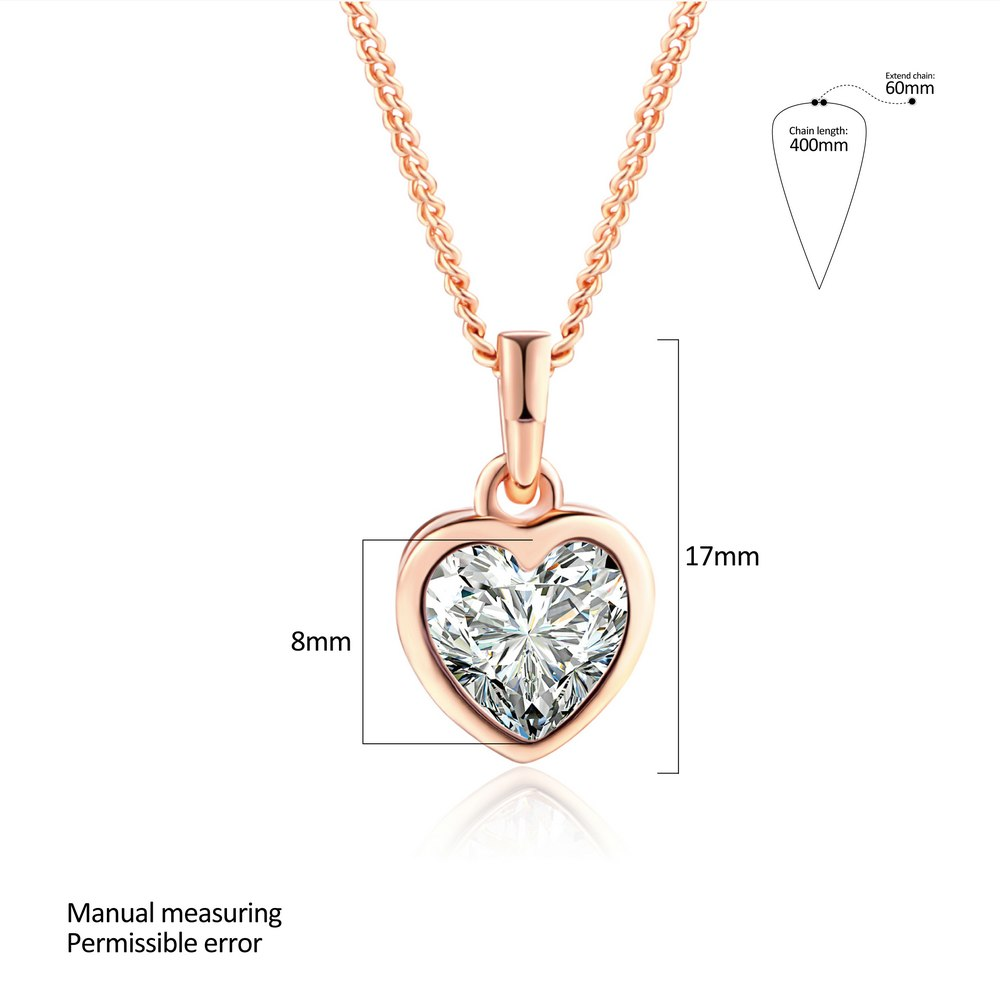 Heart Crystal Necklace - Dress Mist
