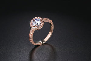 Round Cut Rose Gold Ring - Dress Mist
