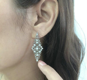 Luxurious Hollowed-out Earings - Dress Mist