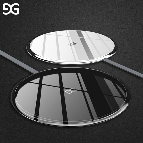 Gusgu Wireless Charger, Ultra Slim Portable QI Wireless Charging Pad for iPhone X, iPhone 8/ 8 Plus, Samsung Note 8, Galaxy S8 / S8+