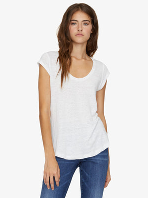 Alma Scoop Tee | White Jasmine