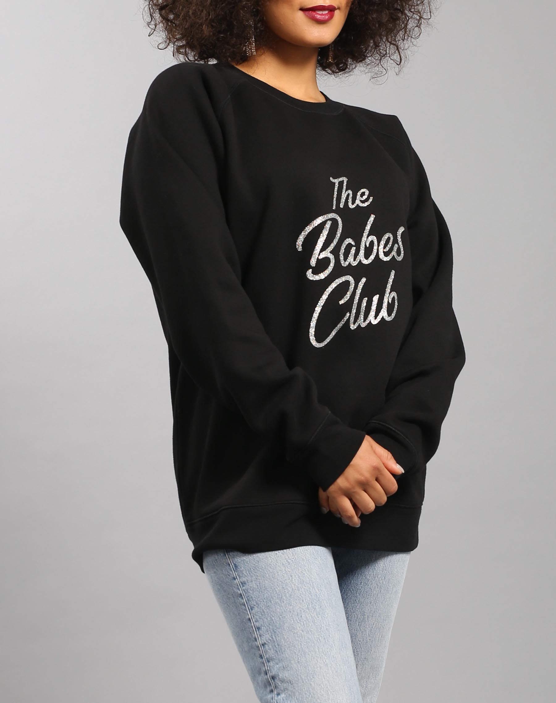 """BABES CLUB"" Big Sister Crew Neck Sweatshirt 