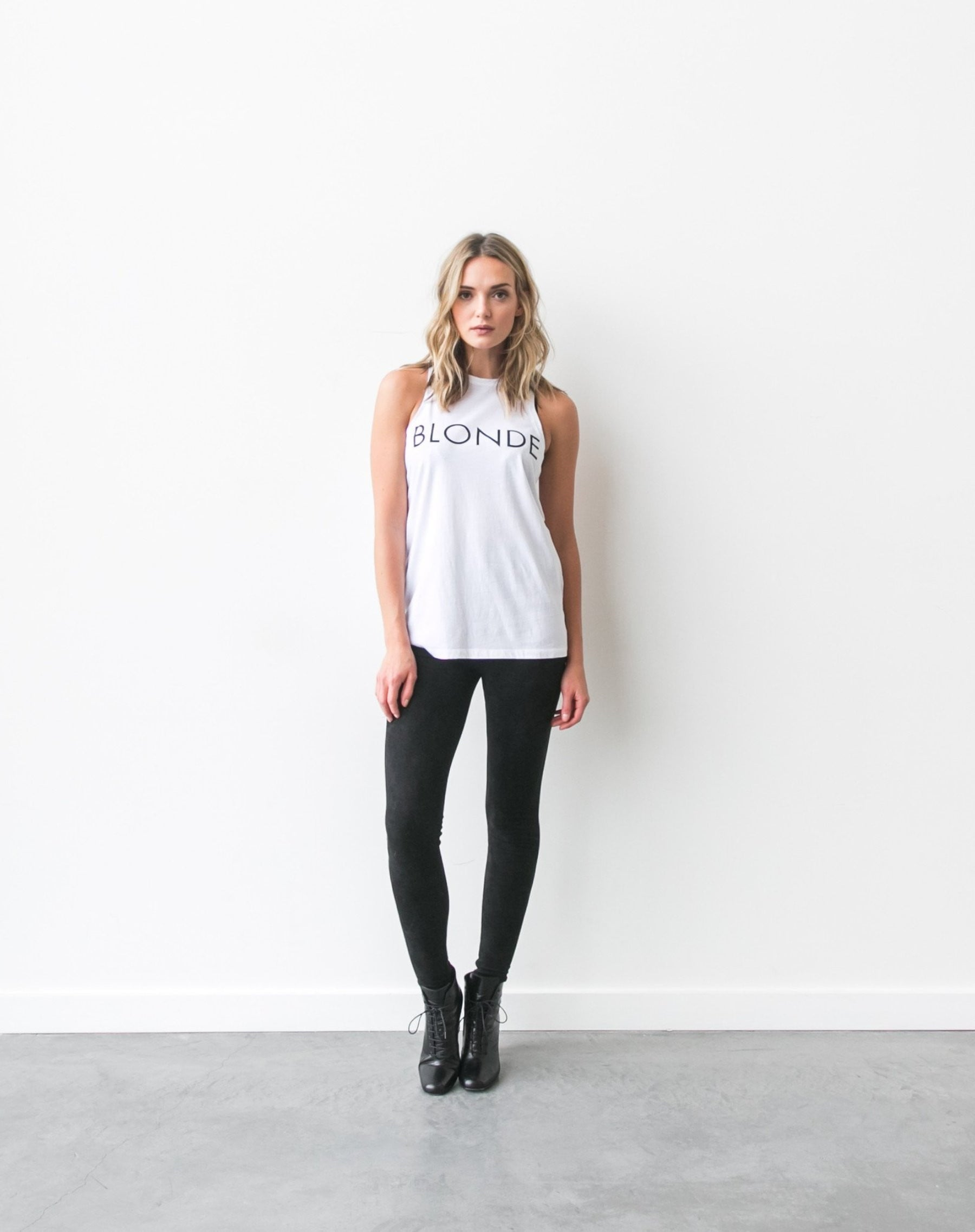 """BLONDE"" Crew Neck Tank 