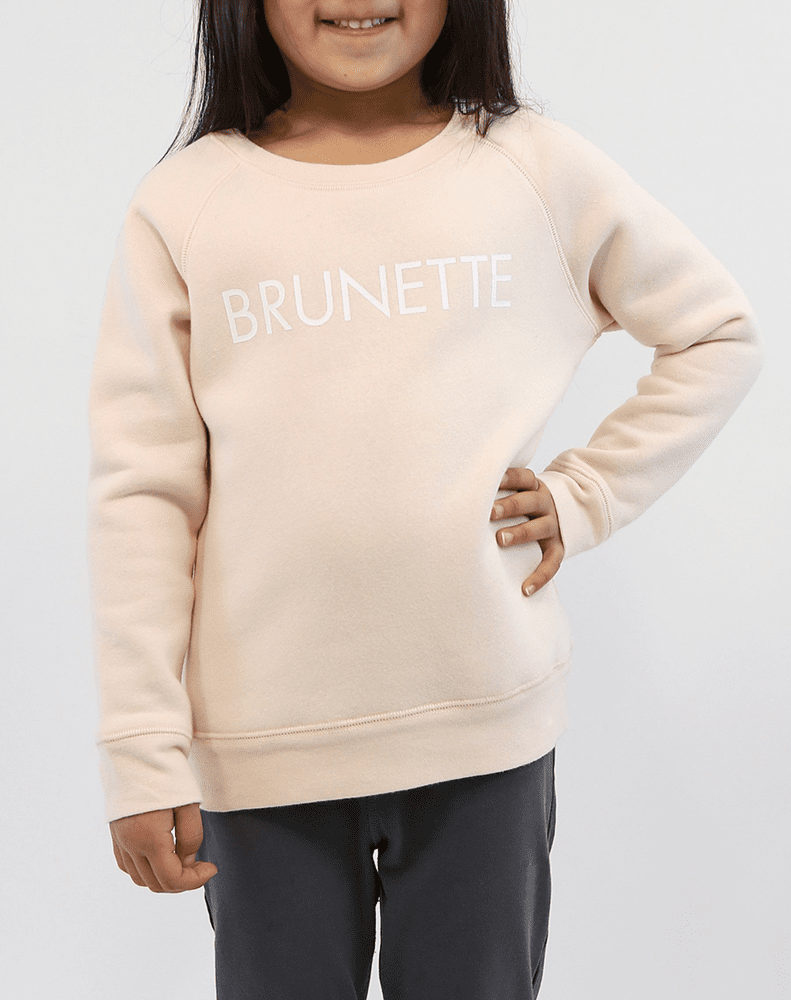 """BRUNETTE"" Little Babes Crew Neck Sweatshirt 