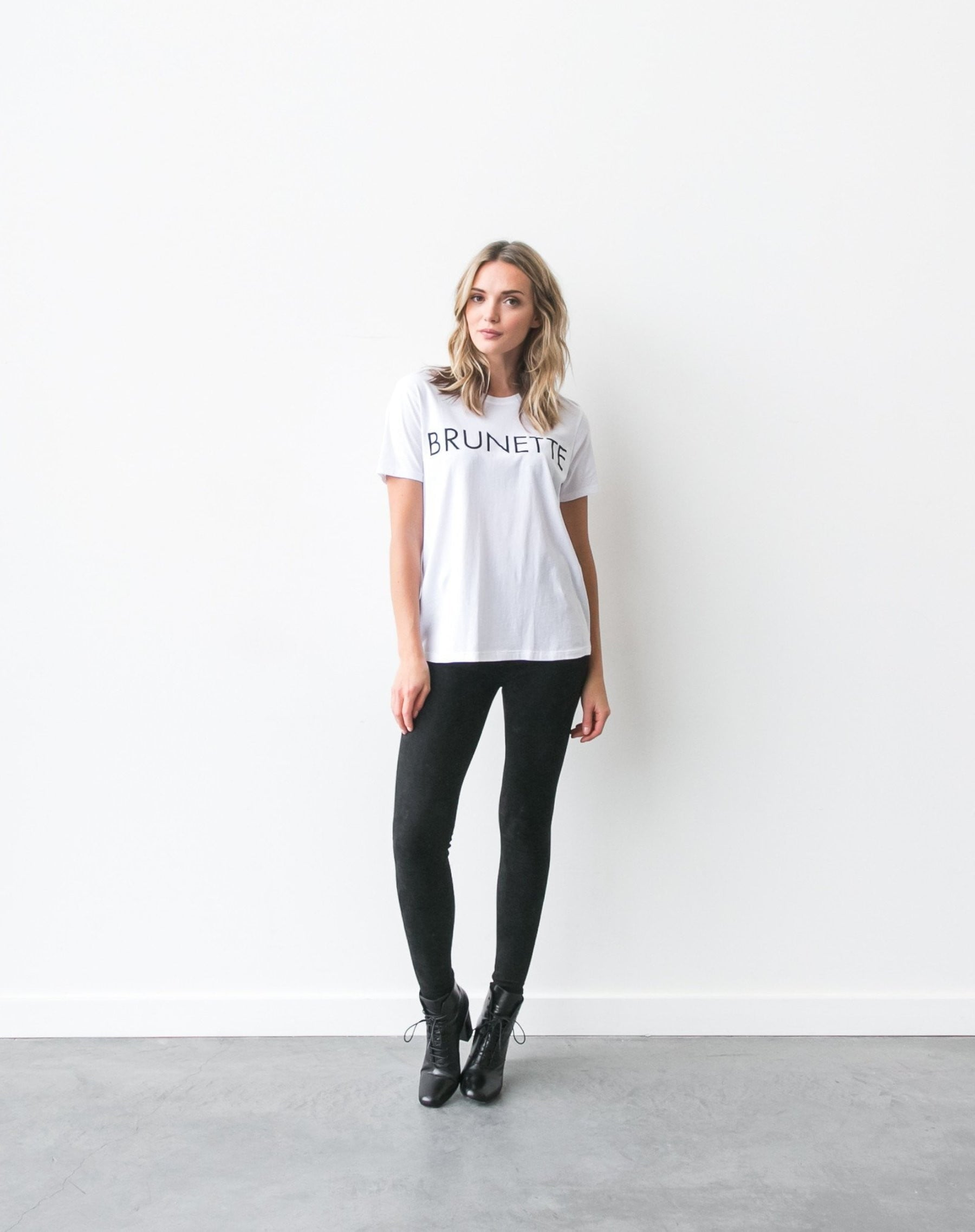 """BRUNETTE"" Ryan Crew Neck Tee 