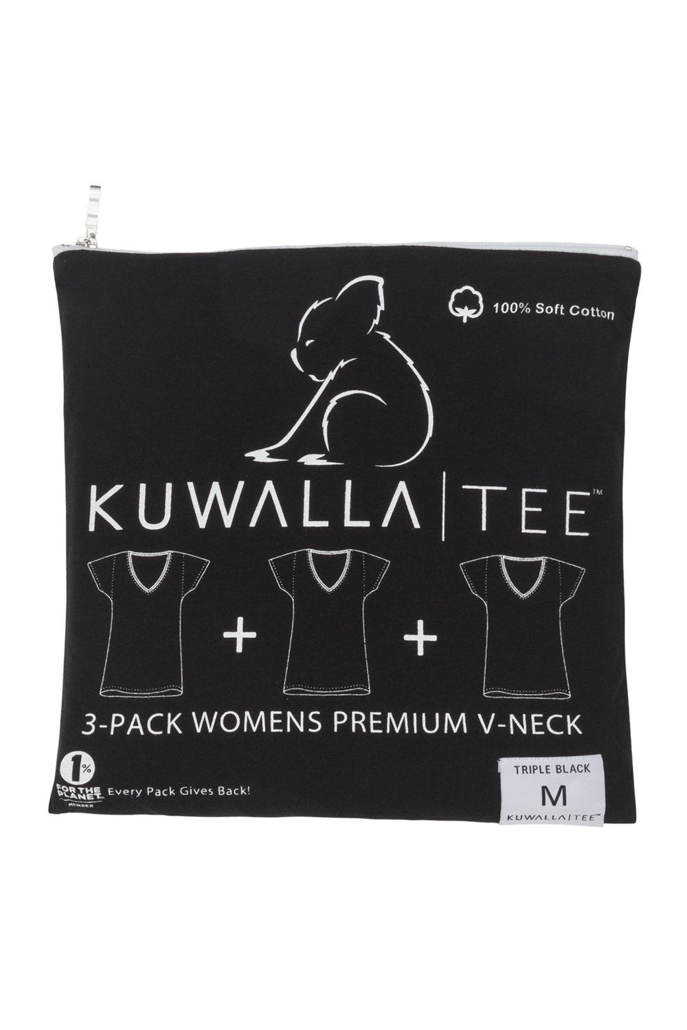 Women's V-Neck Tee 3 Pack | Black