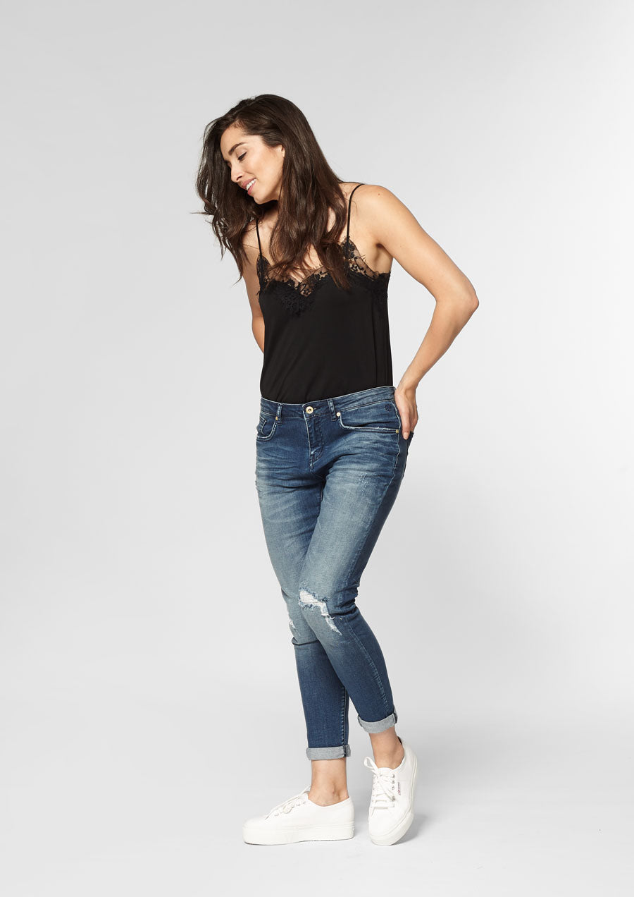 Cooper Skinny Boyfriend Fit | Faded Indigo