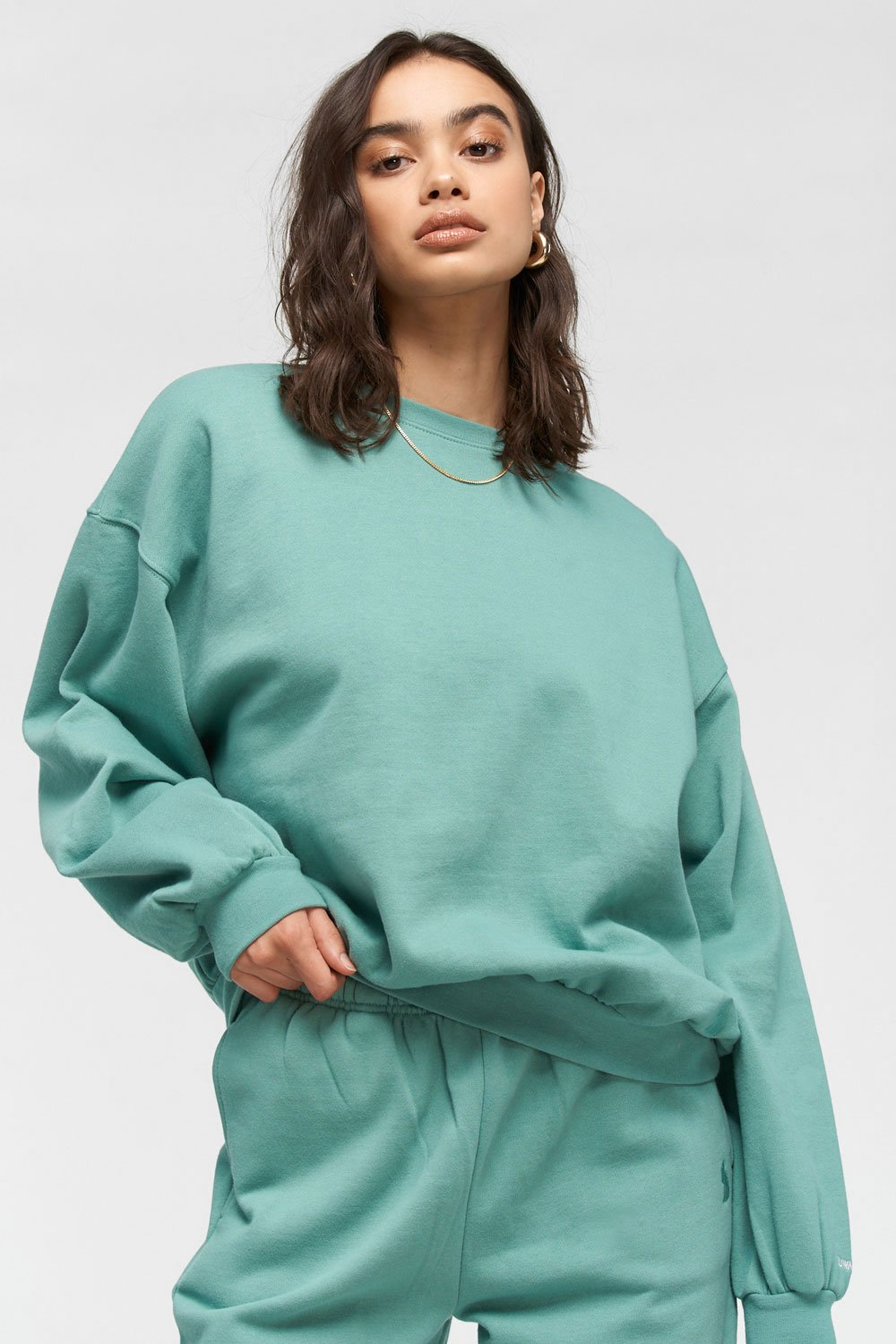 Oversized Crew | Green Tea
