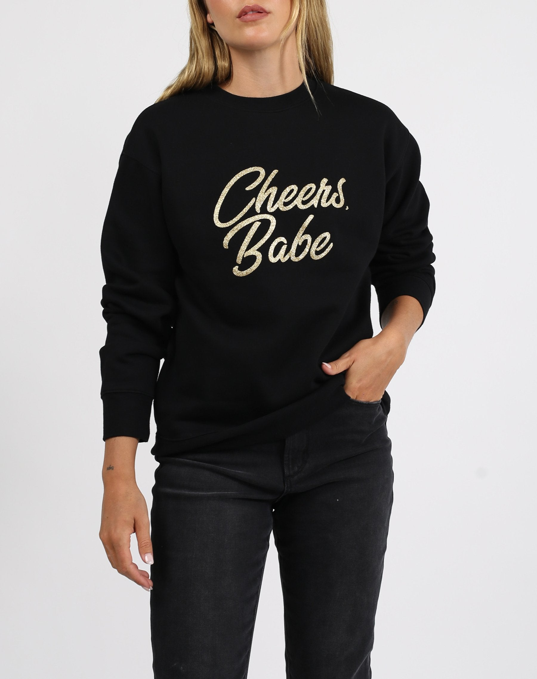 "The ""CHEERS BABE"" Classic Crew Neck Sweatshirt 