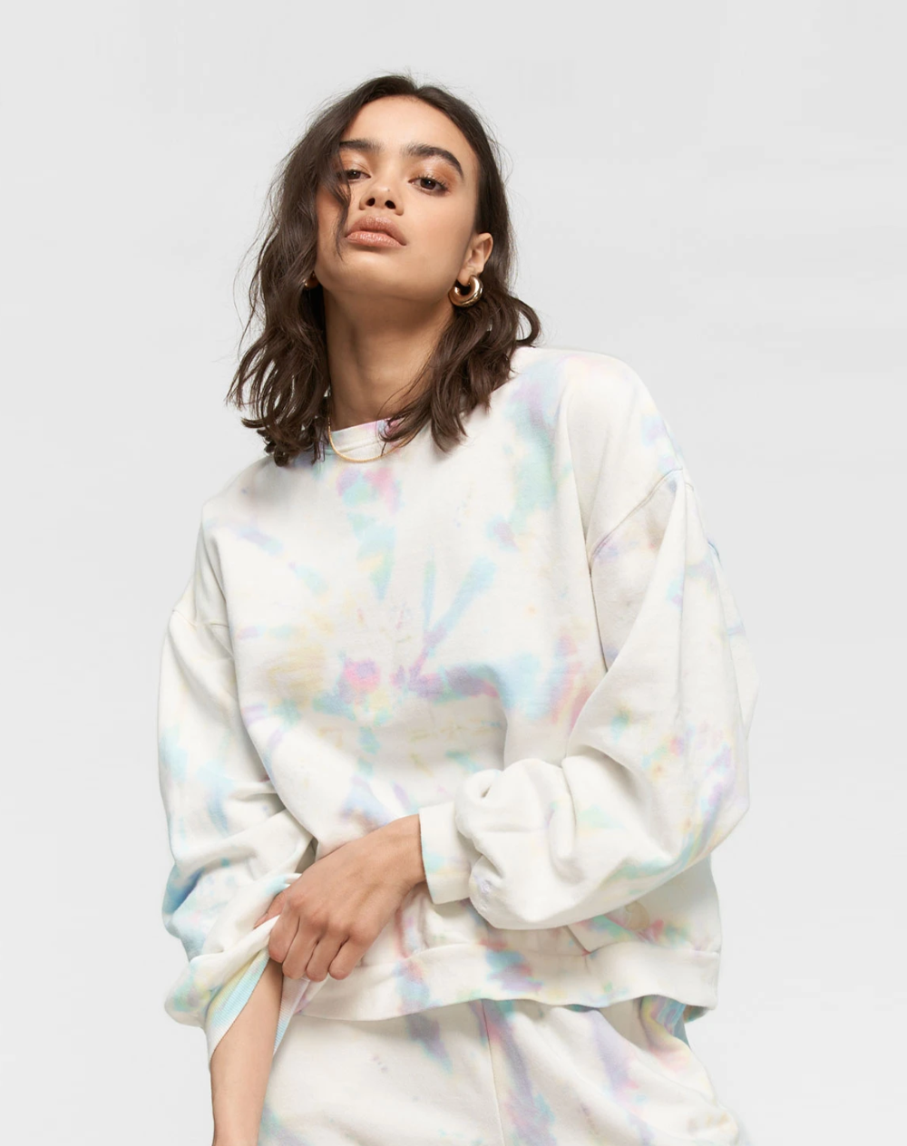 Oversized Crew Tie Dye | Cotton Candy
