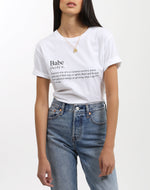 """DEFINITION OF A BABE"" Crew Neck Tee 