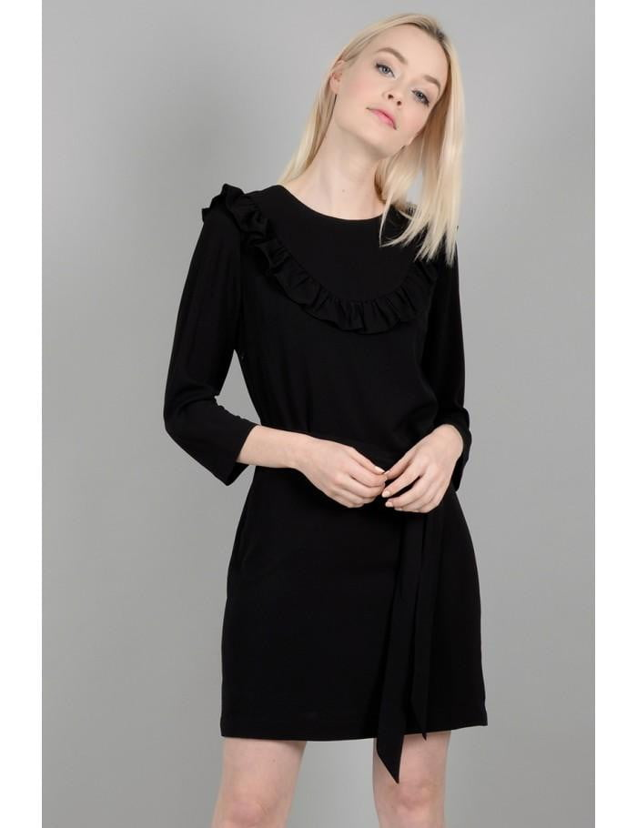 Fitted Shift Dress | Black