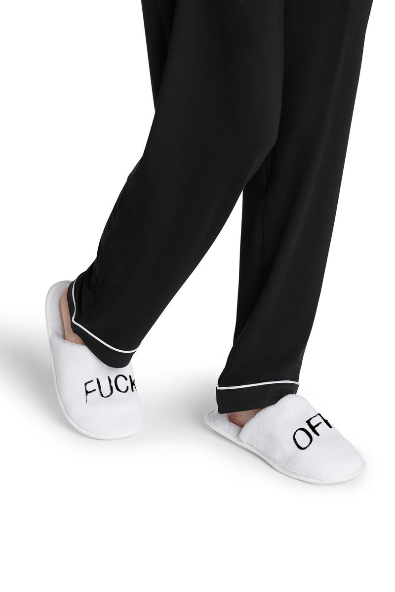 F Off Slippers | White