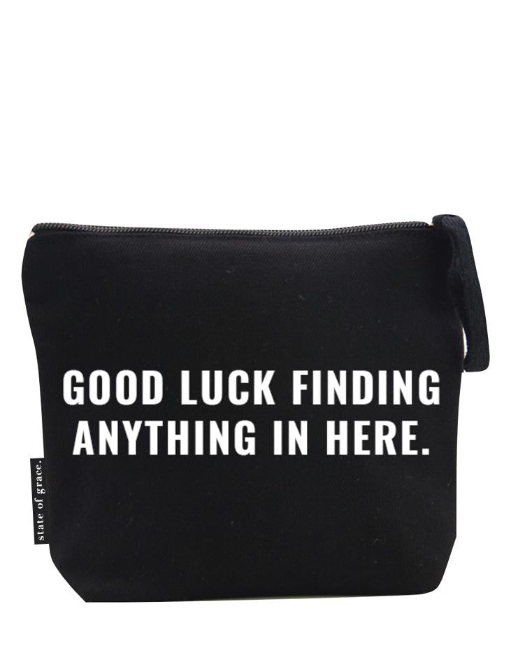 GOOD LUCK ZIP BAG | Black