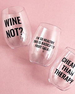 GRAPE THERAPY wine cup set