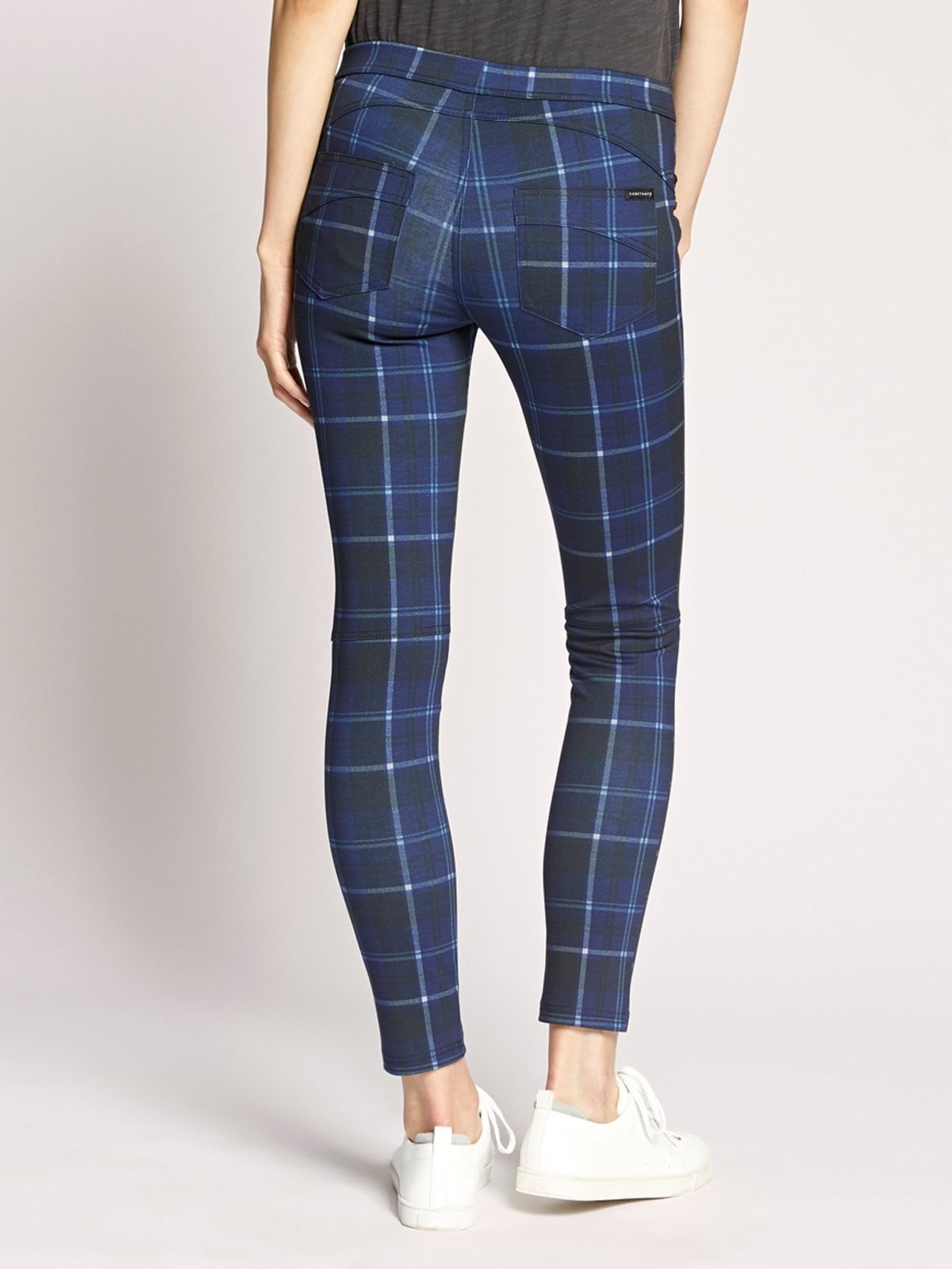 Grease Legging | Electric Blue Plaid