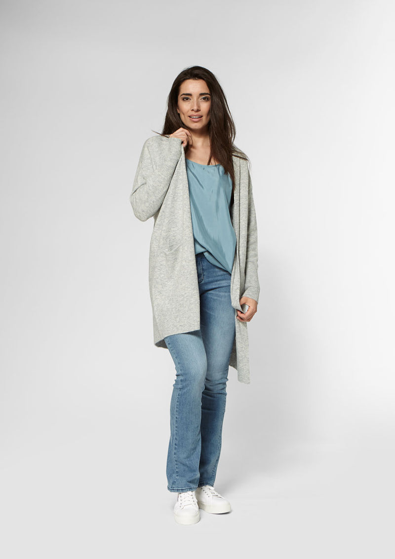 Julia Cardigan | Light Grey Melange
