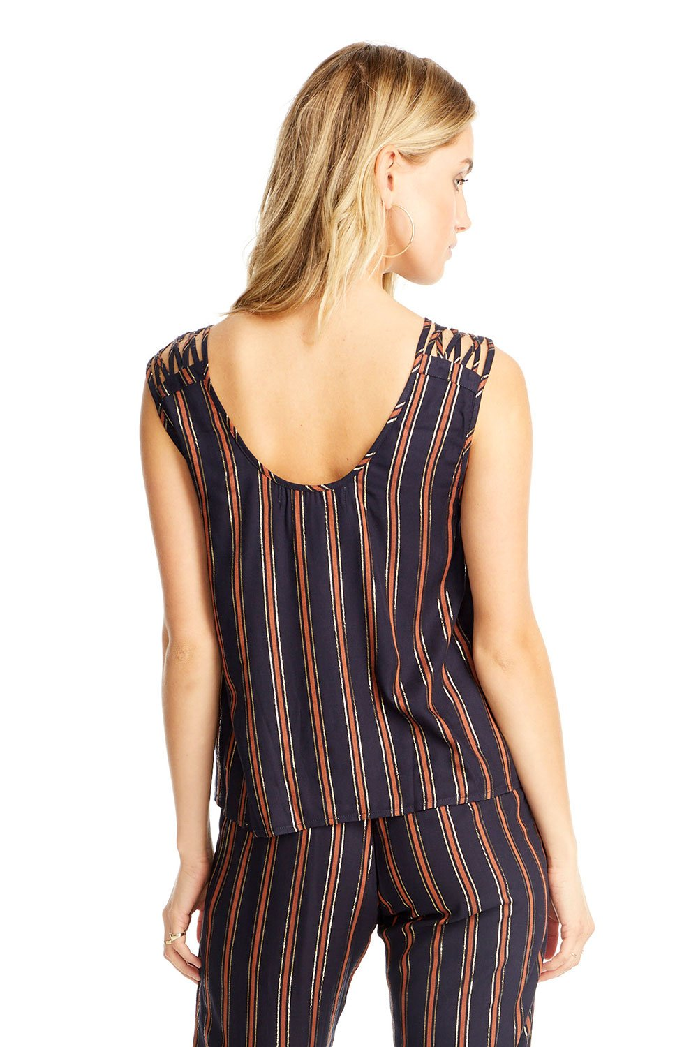 Kelsey Tank | Metallic Stripe
