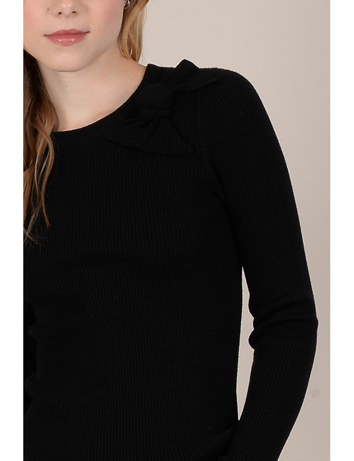 Knitted Sweater | Black