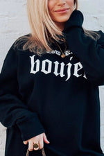 Low Key Boujee Crewneck | Black