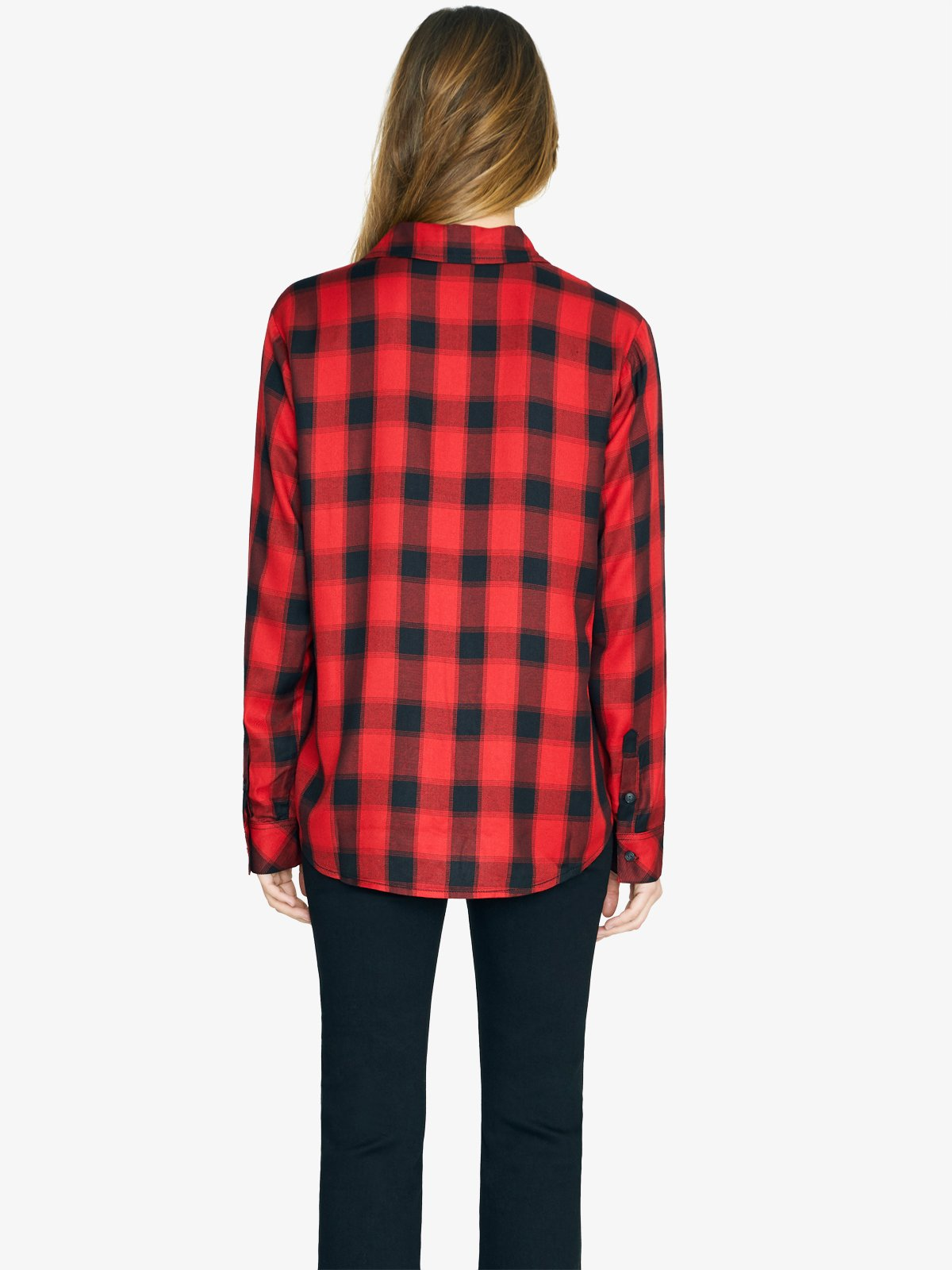 New Generation Boyfriend Shirt | Fiery Plaid