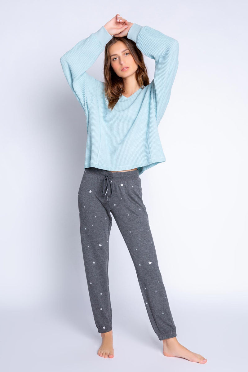 Shining Star Banded Pant | Heather Charcoal