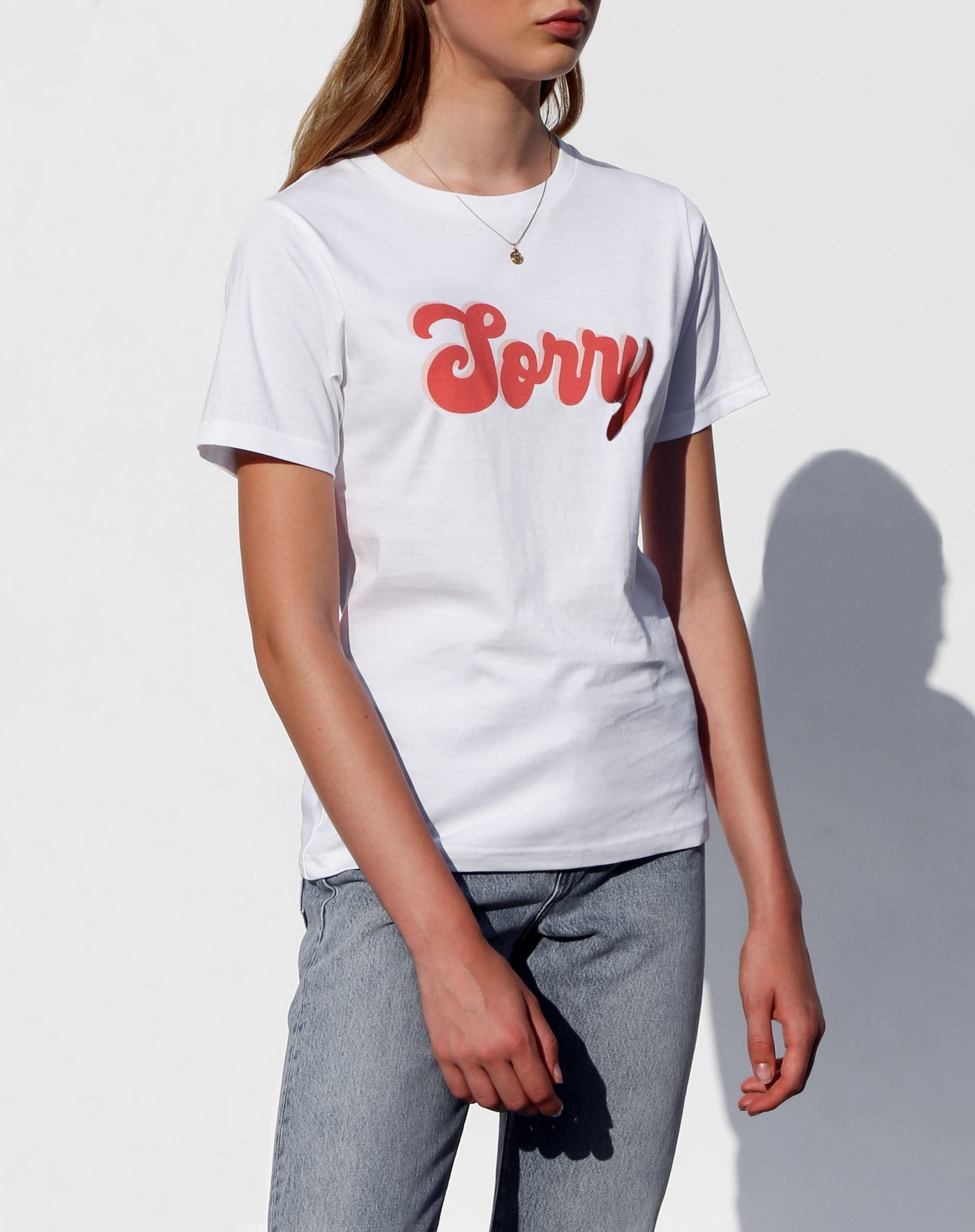 """Sorry"" Crew Neck Tee 
