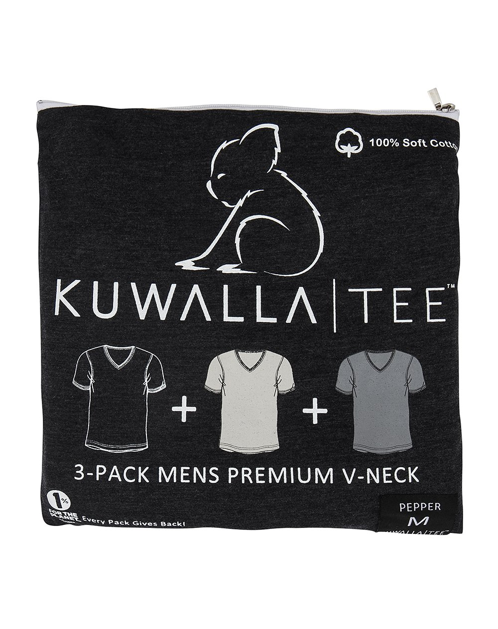 Men's V-Neck 3 Pack | Pepper