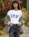 "The ""UPLIFT"" Boxy Crew Neck Tee 