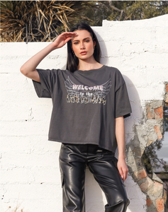 """WELCOME TO THE BABES CLUB"" Vintage Boxy Crew Neck Tee 