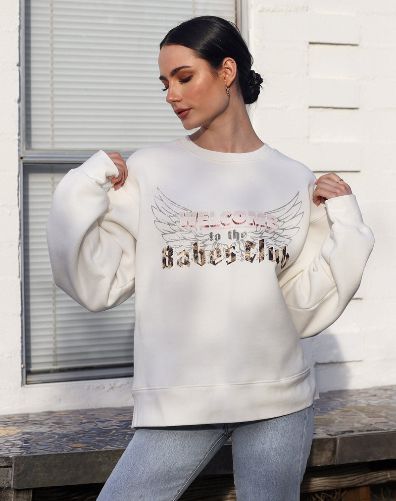 "The ""WELCOME TO THE BABES CLUB"" Step Sister Crew Neck Sweatshirt 