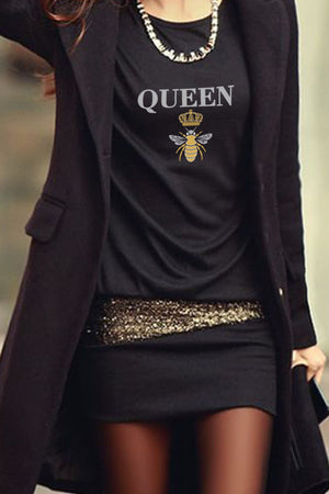 Queen B Mimi Tee | Black