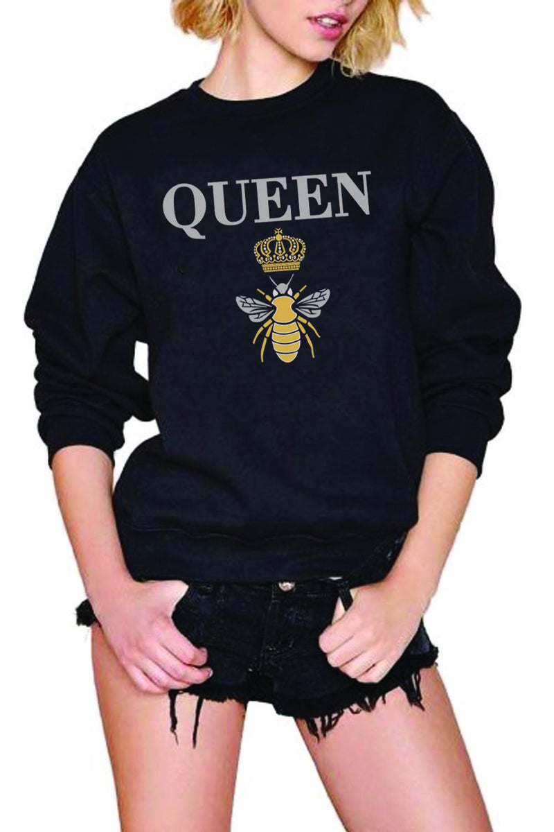 Queen B Crewneck Sweatshirt | Black