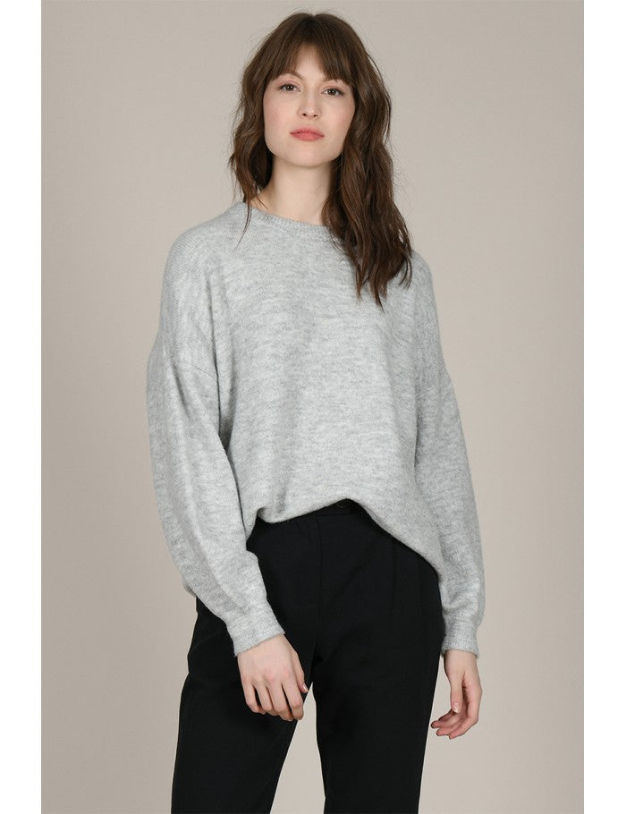 Loose Short Sweater | Grey
