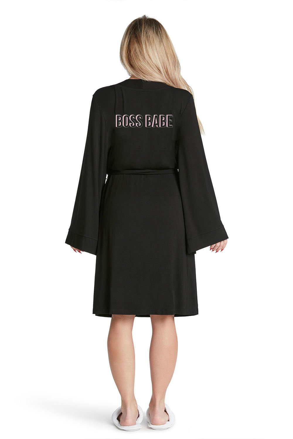 Boss Babe Lightweight Robe | Black