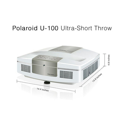 POLAROID U-100 UST PROJECTOR & S-100 AMBIENT LIGHT REJECTING PROJECTION SCREEN BUNDLE