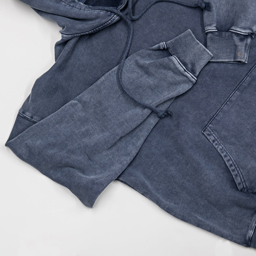 Essential Oversized Hoodie - Washed Navy